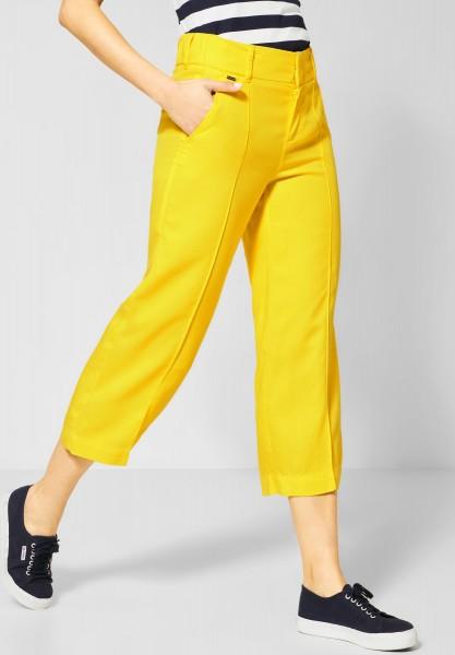 Street One - Wide Leg Hose Emee in Shiny Yellow