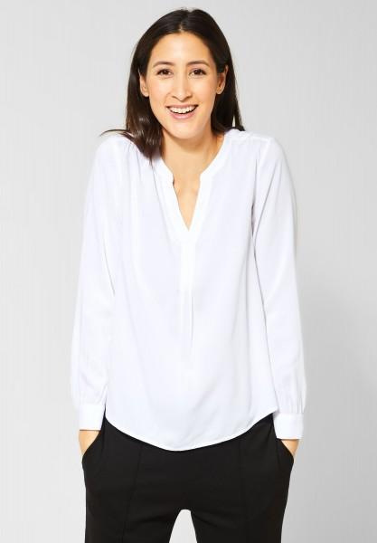 Street One - Bluse mit Raffungen in White