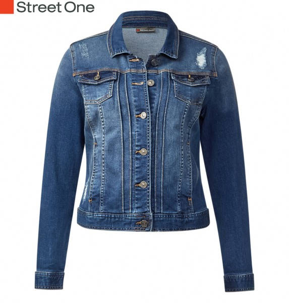 Street One - Used Look Denimjacke Yanina