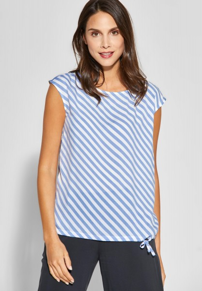 Street One - Streifenshirt Aleyna in Heaven Blue