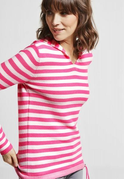 CECIL - Hoodie Pullover mit Print in Bubblegum Pink