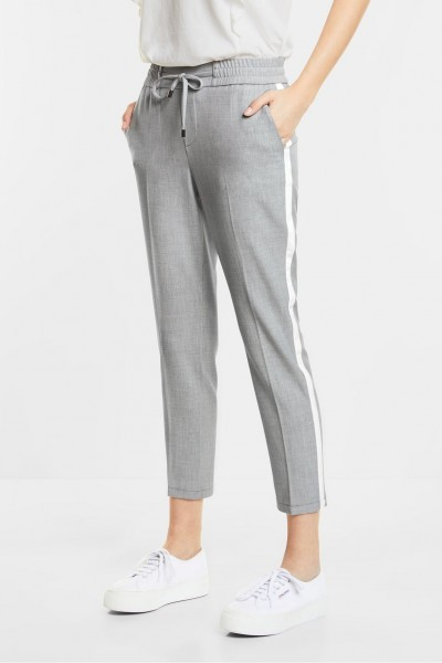 Street One - Loose Fit Hose Fay in Shiny Grey Melange