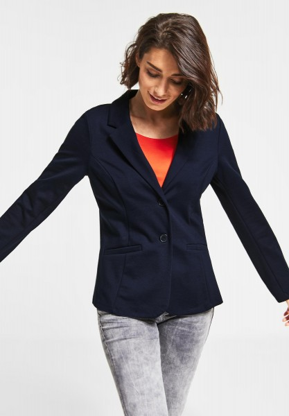 Street One - Jersey Blazer in Deep Blue