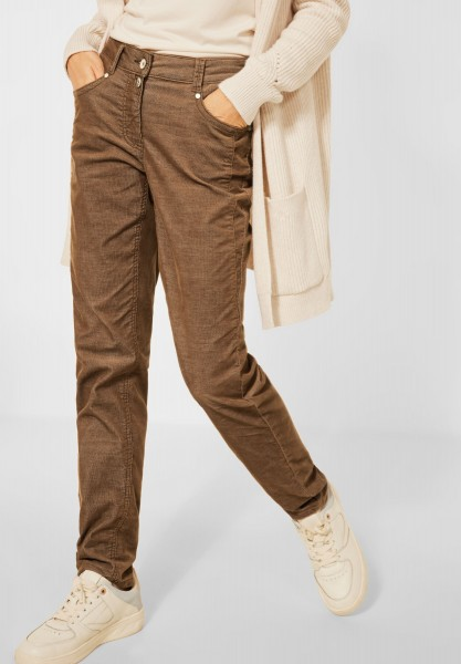 CECIL - Casual Fit Cord Hose in Toffee Brown
