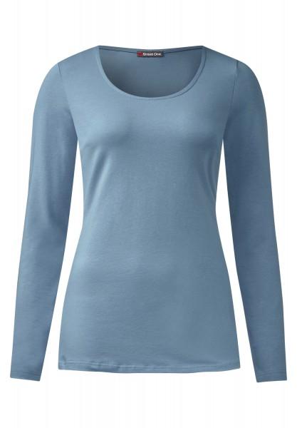 Street One - Langarmshirt Basic Style Iva Sterling Blue