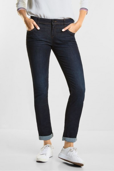 Street One - Casual Fit Denim Jane MW in Blue Soft Wash