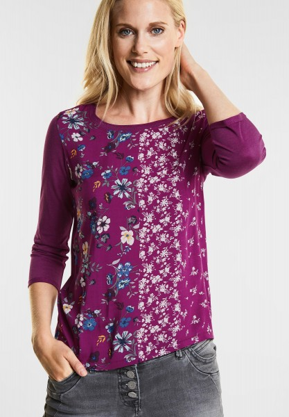 CECIL - Softes Mustermix Shirt in Fuchsia Pink