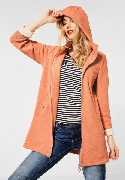 Street One - Softe Jacke mit Kapuze in Tender Peach