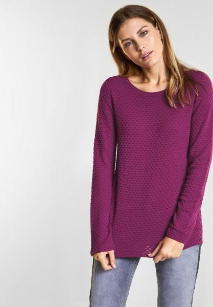 CECIL - Strukturierter Pullover in Fuchsia Pink