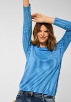 CECIL - Shirt mit Streifen Muster in Mountain Blue
