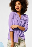 Street One - Bluse in Unifarbe in Clear Lilac