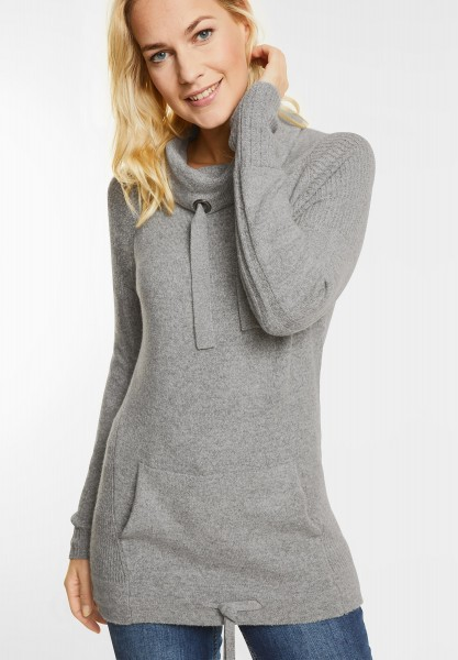 CECIL - Sportiver Kuschel Pullover in Middle Grey Melange