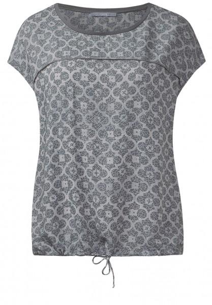 CECIL - Weiche Mosaikprint-Bluse Light Grey