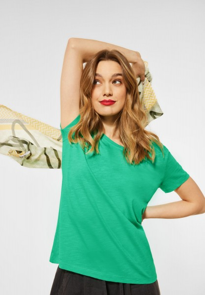 Street One - Cosy T-Shirt in Yucca Green