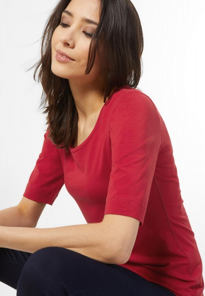 Street One - Organic Halbarm Shirt Lenka in Classy Red