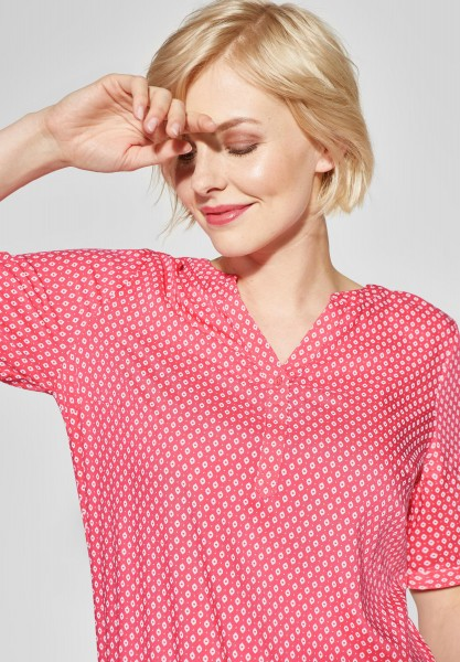 CECIL - Bluse mit Print Lorry in Neo Coralline Red