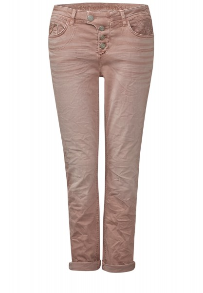 Street One - Verkürzte Colour-Denim Mika Shadow Rose Washed