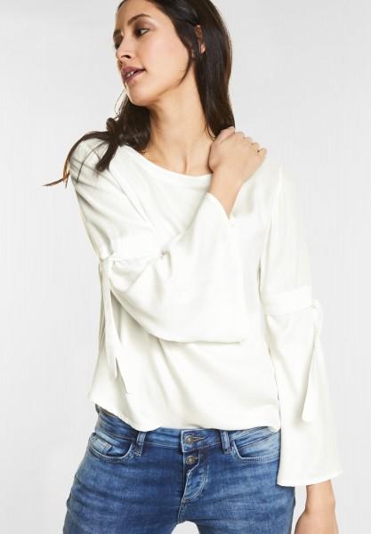 Street One - Weiche Bluse mit Schleifen in Off White