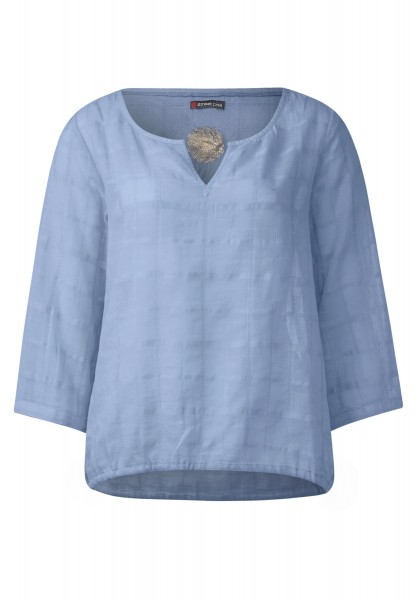 Street One - Struktur Bluse Regina in Powder Blue
