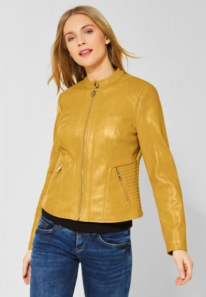 Street One - Softe Kunstlederjacke in Leather Yellow