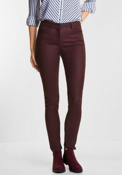 CECIL - Coated Tight Fit Victoria in Deep Berry