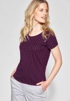 CECIL - Grafik-Print Shirt Naemi in Deep Berry