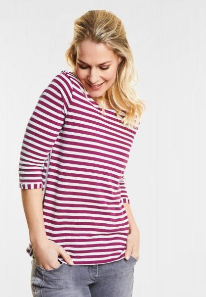 CECIL Weiches Streifenshirt Lydia in Magic Pink