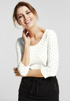CECIL - Shirt mit Foilprint in Pure Off White