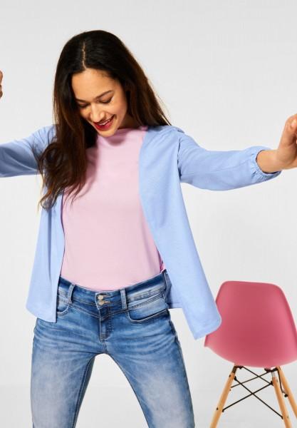 Street One - Verschlusslose Shirt Jacke in Mid Sunny Blue