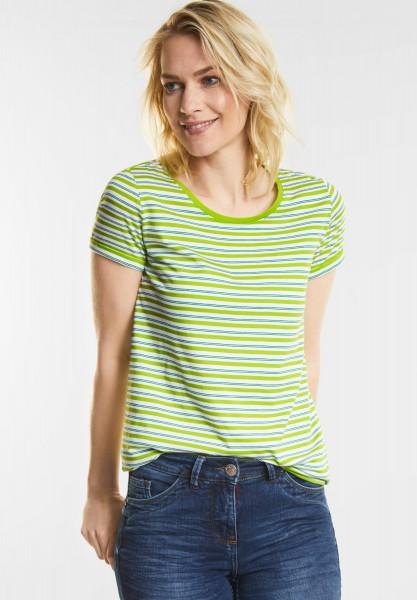 CECIL - Streifen-Shirt Sarina in Sulphur Green