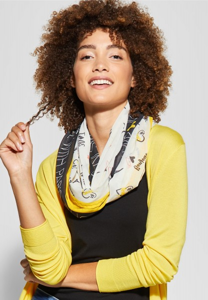 Street One - Weicher Loop mit Patchwork in Creamy Lemon