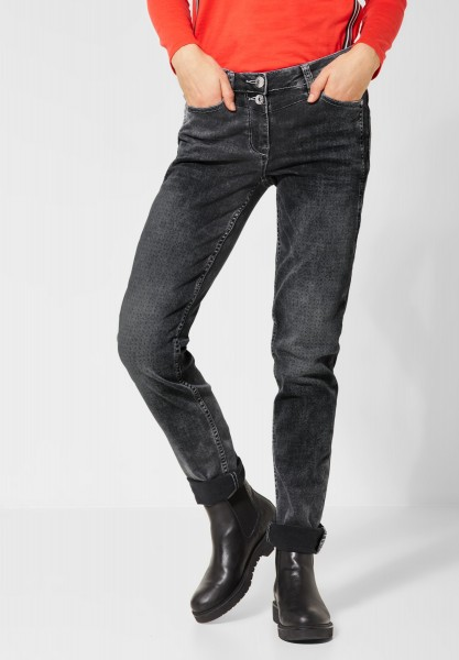 CECIL - Denim Scarlett mit Muster in Mid Grey Used Wash