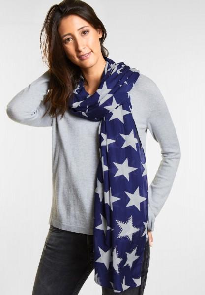 Street One - Schal mit Sterne in Saphire Blue