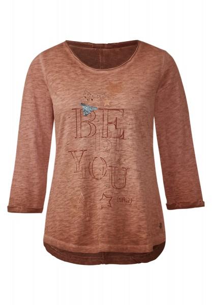 CECIL - Shirt mit Sternenprint Spicy Amber