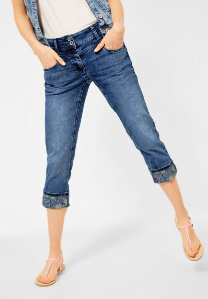 CECIL - Loose Fit Denim mit Turn Up in Authentic Mid Blue Wash