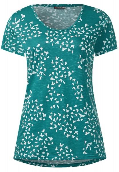 Street One - Basic Printshirt Erna Paradise Green