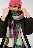 Street One - Langer Multicolor Schal in Easy Green