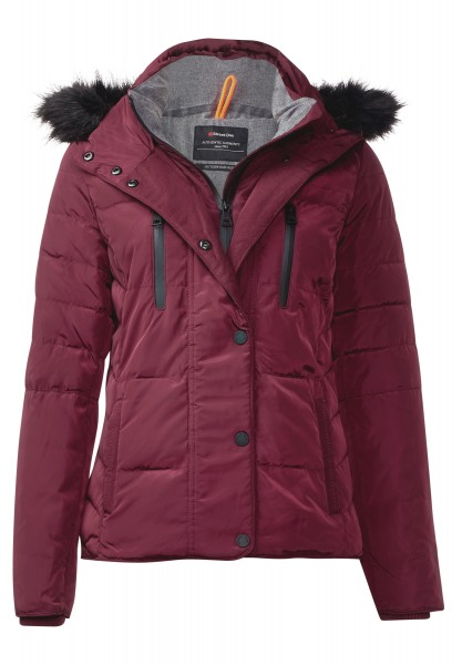 Street One - Steppjacke mit Kapuze Hayden Night Plum