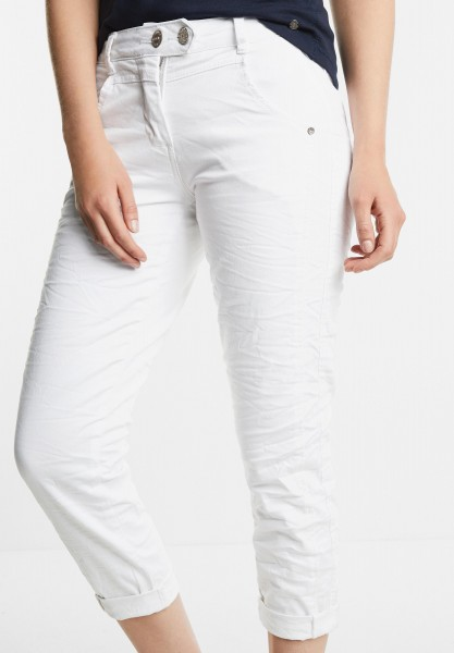 CECIL - 7/8-Crinkle Hose New York in White