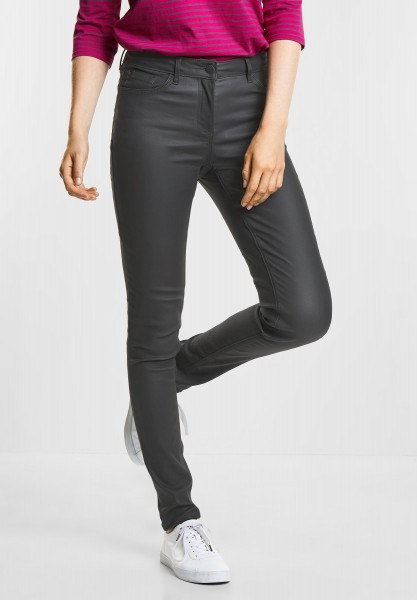 CECIL - Coated Tight Fit Victoria in Dark Graphite Grey