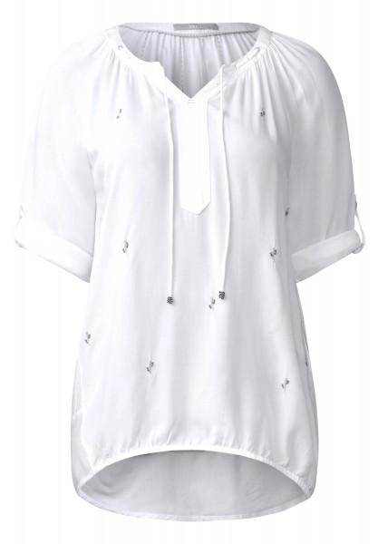CECIL - Weiche Bluse mit Kaktus in White
