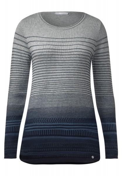 CECIL - Pullover mit Strukturmuster Deep Blue