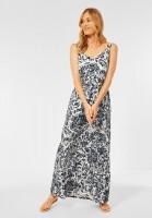 CECIL - Maxi Kleid mit Blumen Print in Pure Off White