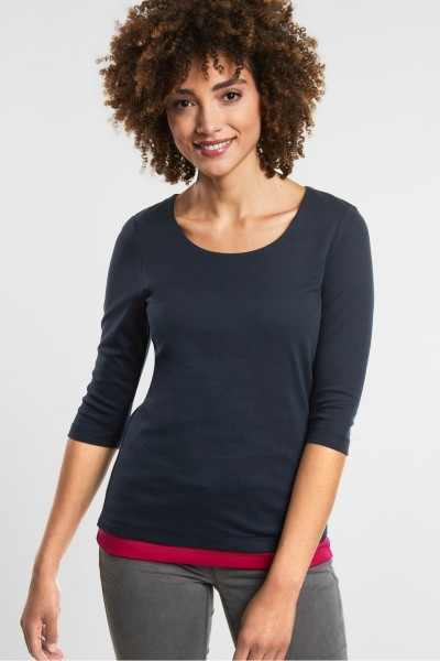 Street One - Basic Shirt Pania in Deep Blue