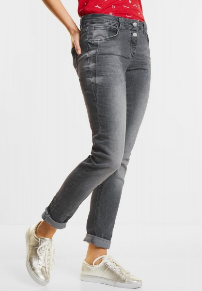 CECIL - Graue Denim Scarlett in Mid Grey Used Wash