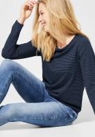 CECIL - Streifenshirt Marlena in Deep Blue
