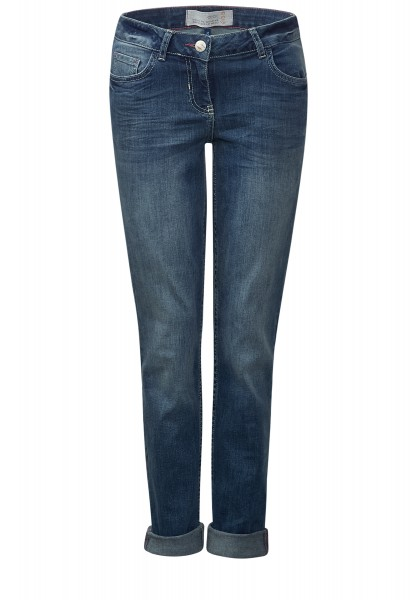 CECIL - Denim-Jeans Charlize Slim Mid Blue Used Wash
