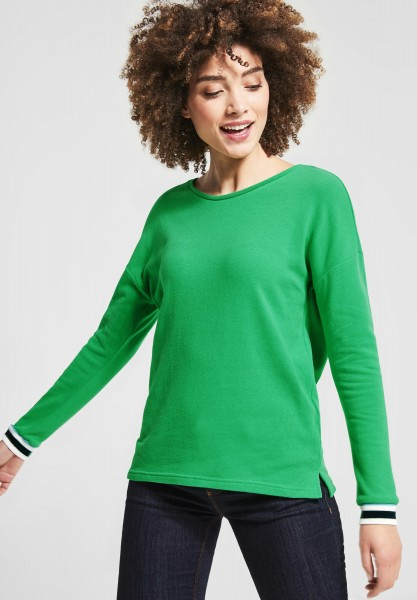 Street One - Shirt mit Kontrastdetail in Spring Green