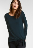 Street One - Softes Shirt Mathea in Deep Ivy