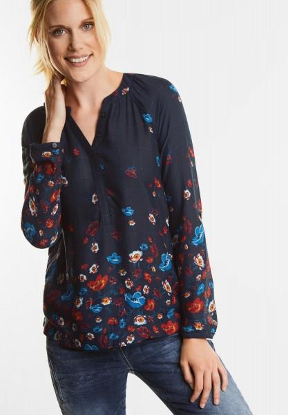 70f8d9fca6ed Bluse mit Karos und Blüten in Black von CECIL online bestellen